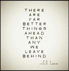 Better things ahead than behind