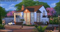Modern house in country style by Tanitas8 Sims for The Sims 4