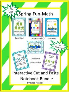 Spring Fun Math, Interactive Notebook Cut and Paste Activities Bundle from smalltowngiggles on TeachersNotebook.com -  (17 pages)  - Spring Fun Math, Interactive Notebook Cut and Paste Activities Bundle- Students love Interactive Notebook Activities. With this Spring Fun Math Interactive Notebook Cut and Paste Activities Bundle you will receive the following; Addition, Subtraction, Pat