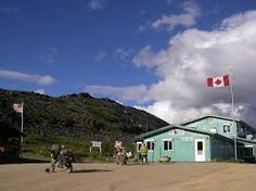 Border Crossing, Yukon to Alaska, Top of the World Highway