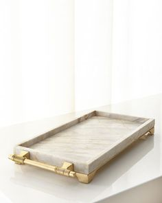 Janice Minor Century Marble Rectangular Tray EXCLUSIVELY OURS. Century marble and wrought iron with golden finish on metal handle and base. Elegant Fall Decor, Fall Bedroom, Marble Tray, Autumn Home, Tray Decor, Contemporary Decor, Accent Decor, Home Furnishings, Home Accessories