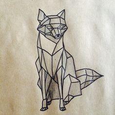 Drawing fox geometric