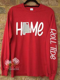 Auburn Alabama Home Long Sleeve Shirt by CottonRowDesigns on Etsy