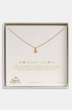 Women's Dogeared 'flower Girl' Pendant Necklace (nordstrom Exclusive)
