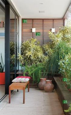 10 Ideas for Tiny Balconies | Gardens, The balcony and Potted plants