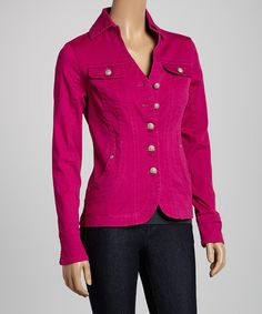 Look at this Live A Little Folk Tale Pink Jacket on #zulily today!