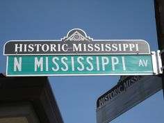 Historic Mississippi business district street sign topper in the Boise Neighborhood Visit Portland, Portland City, Portland Oregon, Modern Mens Haircuts, Haircuts For Men, Roseville California, Custom Street Signs, Neighborhood Association, New Condo