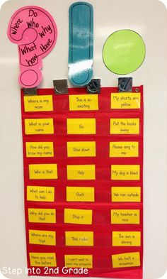 This is a great way for students to see what punctuation goes with each sentence. you could scramble up the note cards and have students put them back in the correct slot while reading them with the correct punctuation at the end.