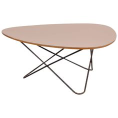Unique diamond shaped coffee table by F. Lasbleiz, manufactured by Airborne France, 1954.