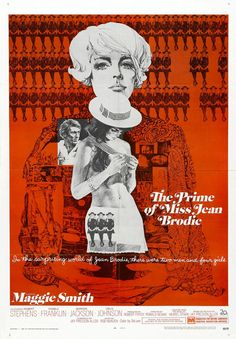 Maggie Smith way before Downton Abbey in The Prime of Miss Jean Brodie (1969 US one sheet)