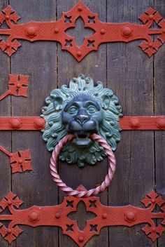 Kiedrich, Kirche St. Valentinus, Türklopfer am Hauptportal (St. Valentine's Church, door knocker on the main portal) by HEN-Magonza, via Flickr