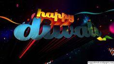 Happy Diwali 3D Text Wallpaper 2015