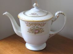 1940's Sango Porcelain Floral Teapot and Sugar Bowl - Occupied Japan from WhimsicalVintage Exclusively on Ruby Lane