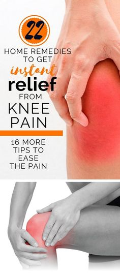 22 Knee Pain Relief Home Remedies Here are a few simple remedies that will have you up and moving in no time! 1. Coconut Oil Coconut oil has well-documented anti-inflammatory benefits that can be utilized to treat knee pain. Use it internally and externally for best results. banner To make your own knee salve, boil …