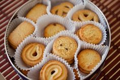 No Dairy Recipes, Real Food Recipes, Cookie Recipes, Jewish Cookies, Danish Butter Cookies, Ginger Cookies, Jewish Recipes, Meals For One, Shortbread