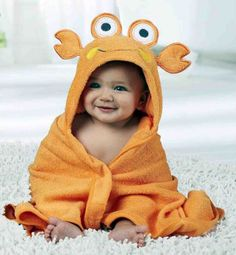 {Customary and custom made baby housecoat, gives the best solution. The Babys, Cute Baby Girl, Cute Babies, Baby Kids, Baby Girl Dresses, Baby Boy Outfits, Kids Robes, Hooded Bath Towels, Baby Towel
