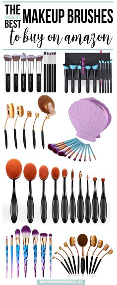 Makeup Brush Set, ZOREYA 8 Pieces Professional Makeup Brushes Essential Cosmetics with Case, Face Eye Shadow Eyebrow Foundation Blush Powder Cream Lip Brush - Cute Makeup Guide Make Up Geek, Make Up Tools, Best Makeup Brushes, Makeup Brush Set, Best Makeup Products, Makeup Brushes Amazon, Beauty Products, Face Brushes, Cute Makeup