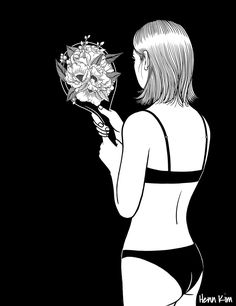 fall in love with myself first by henn kim go get art print - Coloration Et Henn