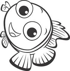 Muitos desenhos de Procurando Nemo para pintar, colorir, imprimir! Nemo e Dory para colorir, pintar, moldes e riscos, peixe para pintar - Espaço Educar desenhos para colorir