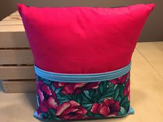 Floral Print Pocket Pillow by thescrappyquilter22 on Etsy