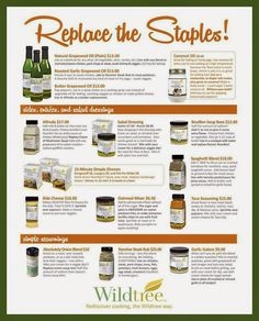 Replace the Staples with Wildtree Foods: Organic & Gluten Free Spices, Sauces & Grapeseed Oils. www.mywildtree.com/ChefHappens