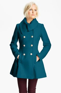 GUESS Asymmetrical Collar Bouclé Coat (Online Exclusive)   Nordstrom