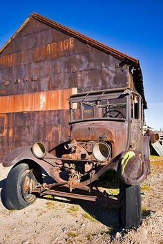 Daggett Garage, Route 66, By PhotosbyFlood