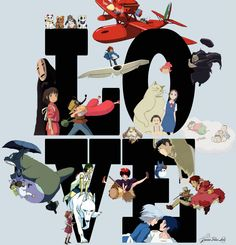 I love Studio Ghibli :) Otaku, Studio Ghibli Movies, Film D'animation, Castle In The Sky, Film Studio, My Neighbor Totoro, Cartoon Games, Hayao Miyazaki, Animation Film