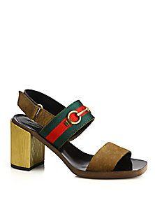 22670d4bc8e Gucci - Querelle Suede   Wood Stripe Sandals ( ) Striped Sandals