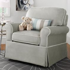 Dorel Upholstered Swivel Glider Gliders Nursery Rockers At Hayneedle