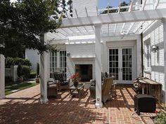 3307 Devon Road, fireplace, brick patio, would do transoms w/door/windows, pergala, add plants and vines