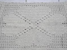 Resultado de imagem para tapete simples de croche retangular