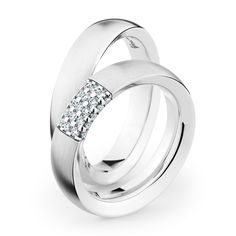 New Design By Bauer 2017 Usa White Gold Wedding Rings