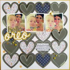 Hello, Oreo! by Tessa Buys - love the heart diecut