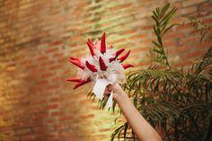 Inspiração: decoração de casamento com flores vermelhas