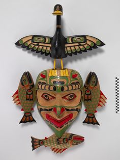 Sea Monster & Duck Mask, Pacific NW Coast Indian, 2004