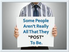 Some people aren't really…