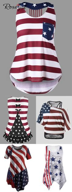 Free shipment worldwide, rosegal plus size american flag pri Pretty Outfits, Cool Outfits, Summer Outfits, Fashion Outfits, Womens Fashion, Fasion, Fashion Ideas, Birthday Outfit For Women, Swagg