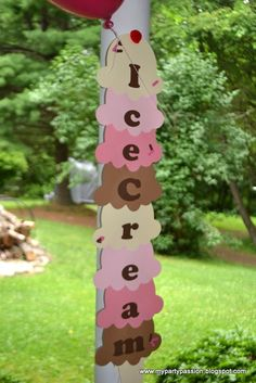 Decorations at an Ice Cream Party #icecream #partydecor