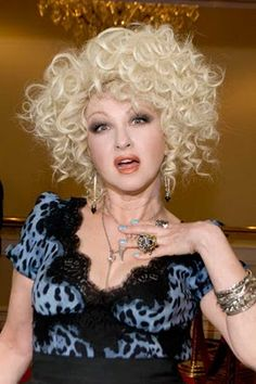 Cyndi Lauper. She's so unusual...but she's so awesome!
