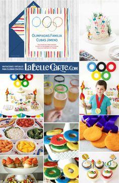Invitaciones de cumpleanos, invitaciones para cumpleanos, ideas para cumpleanos, fiesta de olimpiadas