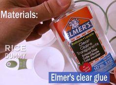 how to make clear glu for slime