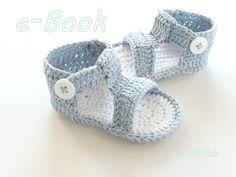 Häkelanleitungen - E-Book❀#3 ♥ Baby Sandalen ♥ Häkelanleitung * DIY - ein Designerstück von WoolAffair bei DaWanda