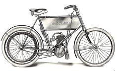 Diese Geschichte begann 1903, noch 3 Monate vor Harley-Davidson, mit der Ausstattung eines HUSQVARNA Fahrrades mit einem 1,5 PS starken Einzylinder Motors, welches mit einer Höchstgeschwindigkeit von 50 km/h bewegt werden konnte.