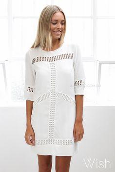 wish alena shift dress - ivory