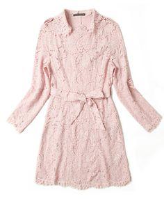 Morpheus Boutique  - Pink Hollow Out Long Sleeve Hem Belted Designer Dress, $129.99 (http://www.morpheusboutique.com/new-arrivals/pink-hollow-out-long-sleeve-hem-belted-designer-dress/)