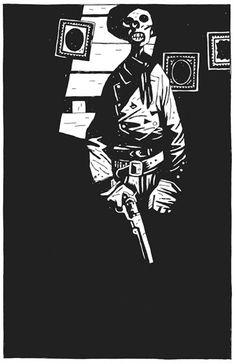 Artwork by Hellboy creator Mike Mignola.