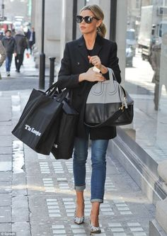 Abbey Clancy.. London shopper style..