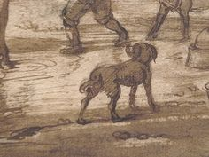"OSTADE (van) Isaac,1644-49 - Paysage avec Voyageurs (drawing, dessin, disegno-Custodia) - Detail -e - TAGS/ details détail détails detalles ""dessins 17e"" ""17th-century drawings"" ""dessins hollandais"" ""Dutch drawings"" ""Dutch painters"" ""peintres hollandais"" Paris France Holland Hollande animal animaux animals man men hommes paysan dog pet chien Isaack tree trees nature arbres chevaux cheval horse traveller ox boeufs boeuf oxes agriculture countryside campagne landscape Isaack road chemin camino"