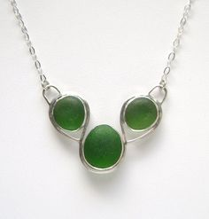 Sea Glass Jewerly  Sterling Green Sea Glass by SignetureLine, $175.00